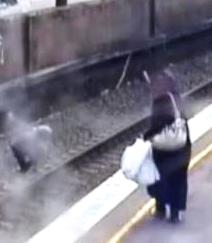 Schoolgirl saved from being hit by train after trying to retrieve dropped hula hoop Flemington station Sydney ...
