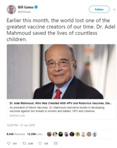 Adel Mahmoud, M.D. bill gates